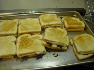 Bacon Grilled Cheese Sandwiches from the Oven.